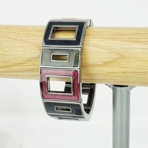 Lia Sophia Rectangle Enamel Adjustable Bracelet
